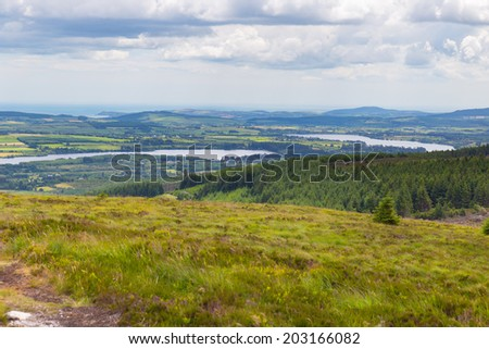 Vartry Reservoir at Roundwood in Wicklow - stock photo