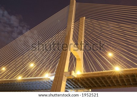 Vasco da Gama - Lisbon, Bridge - stock photo