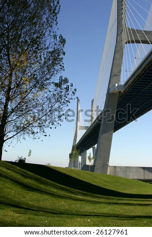 Vasco Gama bridge in Lisbon, Portugal