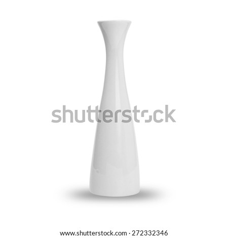 Vase isolated on white background. This has clipping path. - stock photo