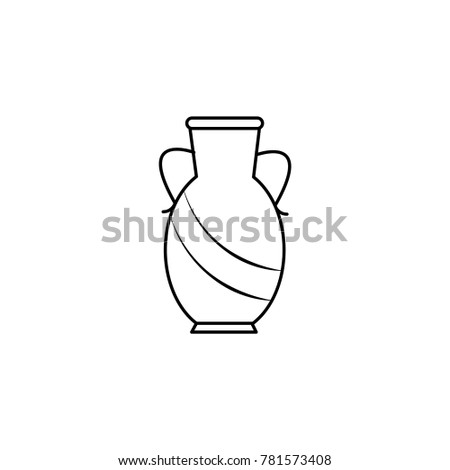 Vase Line Icon Stock Illustration 781573408 Shutterstock