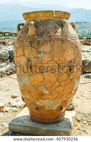 vase on Crete, Greece - stock photo