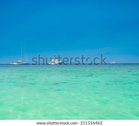 Vast Seascape Traveling Overseas  - stock photo
