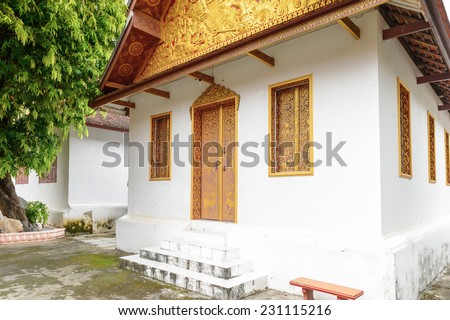 Vat sen, one of the Buddha complexes in Luang Prabang which is the UNESCO World Heritage city