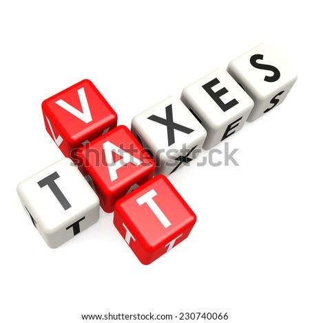 Vat taxes buzzword  - stock photo