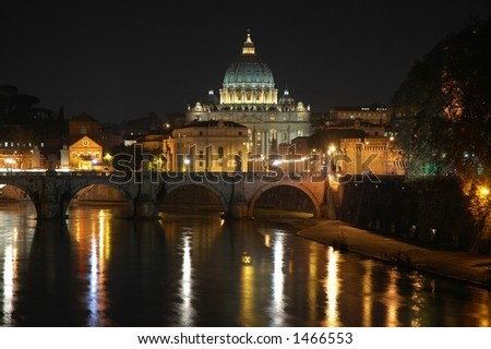 Vatican by night - stock photo