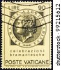 VATICAN - CIRCA 1972: A stamp printed in the Vatican shows Bramante, Donato d'Agnolo, Architect, circa 1972 - stock photo