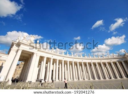 Vatican Saint Peter's Square in Vatican City  - stock photo