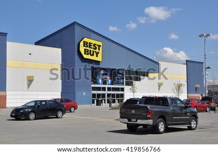 Vaughan, Ontario, Canada - May 4, 2016: Best Buy store in Canada. - stock photo