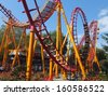 VAUGHAN, ONTARIO - SEPT 25: Rides at Canadas Wonderland, as seen on September 25, 2011. It is the first major theme park in Canada and remains the countrys largest. - stock photo