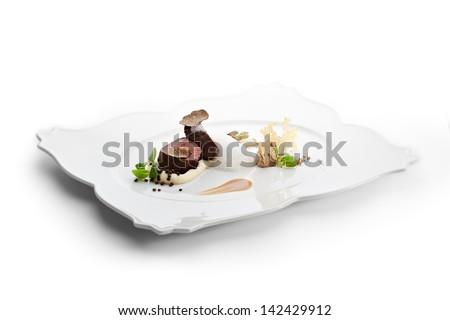 Veal Filet Mignon with Truffle Mash - stock photo