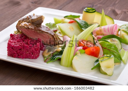 veal fillets - stock photo
