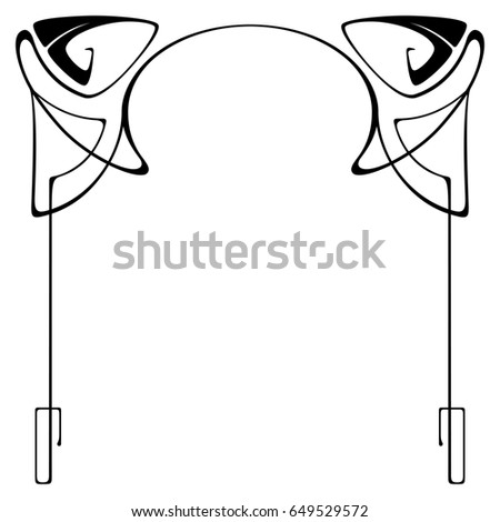 Vector Art Nouveau Frames Print Design Stock Illustration 649529572 ...