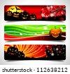 Vector banner set on a Halloween theme. (JPG version) - stock photo