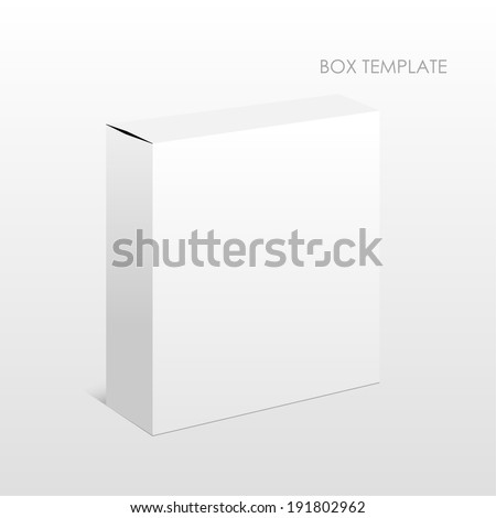 Vector Blank Box on a white background. raster version - stock photo