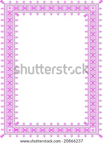 Vector border for illustration, appearance and design - stock photo