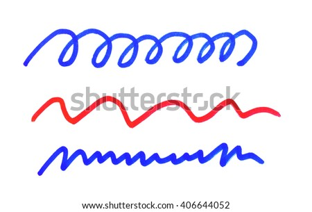 Vector brush lines. Hand drawn strokes - stock photo