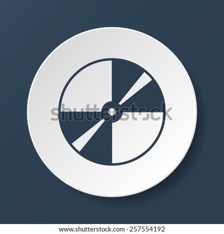 Vector CD or DVD icon.  - stock photo