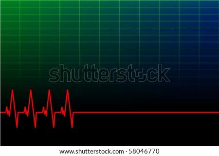 vector ECG background/business card (vector file in portfolio) - stock photo