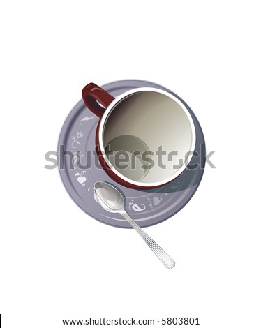 vector figure of cup against the white background - stock photo