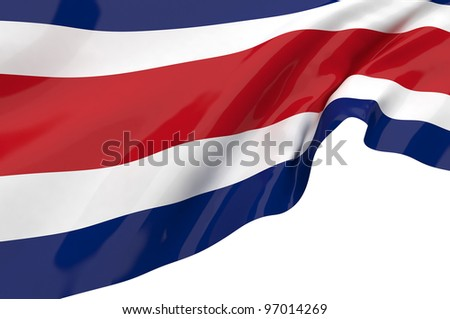 Vector Flags of Costa Rica