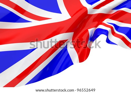Vector Flags of United Kingdom - stock photo