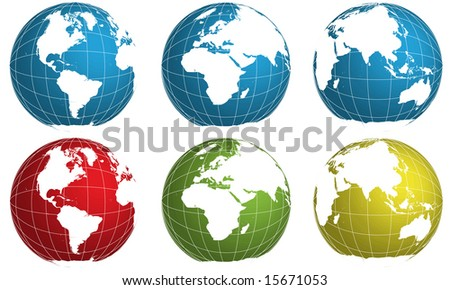 vector globe world