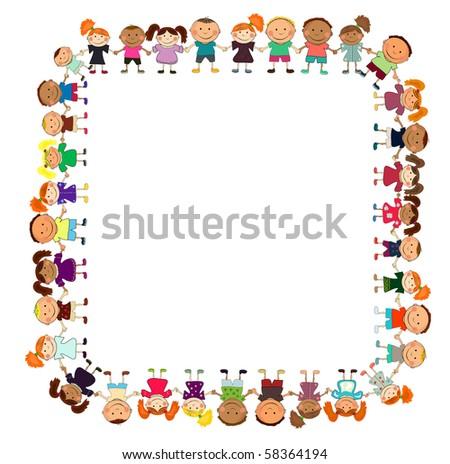 vector happy kids. - stock photo