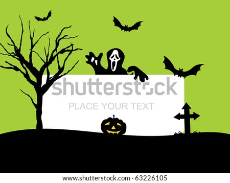 vector illustration for halloween celebration - stock photo
