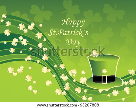 vector illustration for happy st patrick's day - stock photo