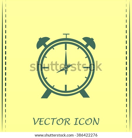 Vector illustration of an alarm clock  - stock photo