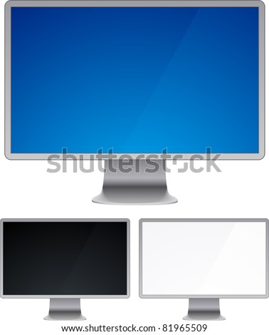 Vector illustration of high-detailed modern display. - stock photo