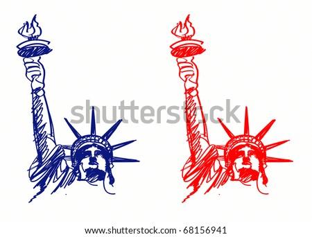 Vector Image American Symbols Freedom Stock Illustration ...