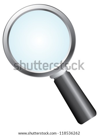 Vector magnifier - stock photo