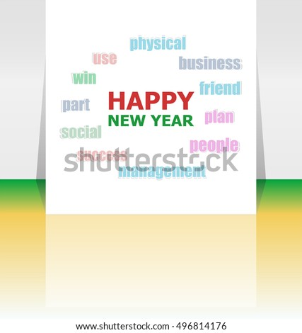 Vector Merry Christmas greeting card - holidays lettering,  Happy New Year design
