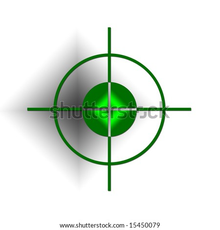 vector of a rifle scope sight - stock photo