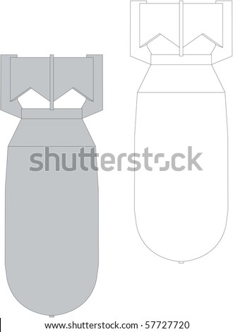 vector old  bomb explosive device - stock photo