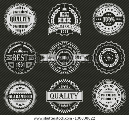 Vector set of retro labels - stock photo