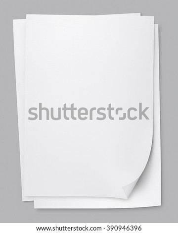 vector stack of papers, grouped and layered - stock photo