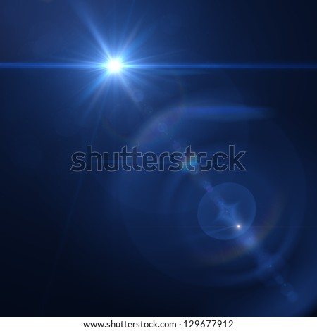 Vector star, sun with lens flare. - stock photo