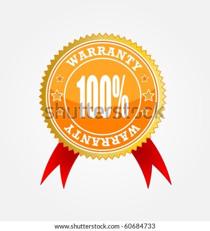 vector sticker-warranty - stock photo