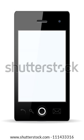 Vector stylish Smartphone with isolated background. Vector version also available in my portfolio. - stock photo