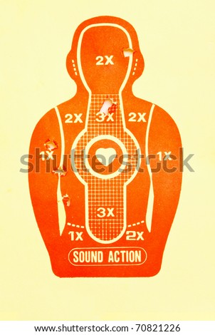 Vector Target (print and shot) - stock photo