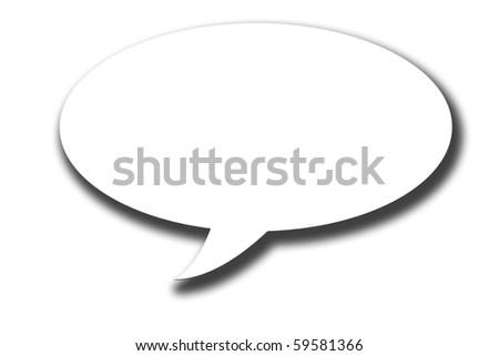 vector text balloon - stock photo