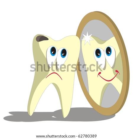 Vector. Tooth cartoon set 006 - stock photo