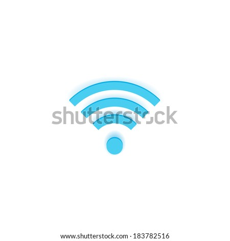 Vector Wireless Icon Isolated on White Background Raster - stock photo