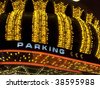 vegas marquee with parking sign - stock photo