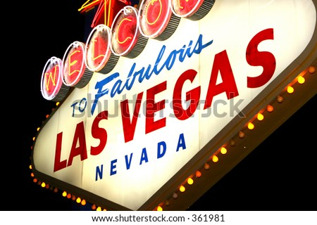 Vegas sign 4 - stock photo
