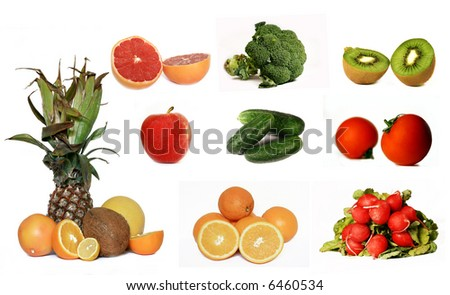 Vegetable and fruit collection