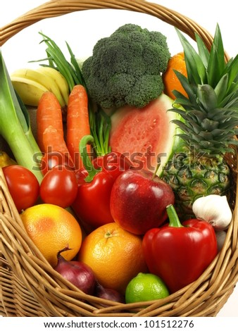 Vegetable and fruit is a healthy lifestyle - stock photo